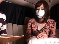 Fooling around in the back seat with a Japanese cutie tube porn video