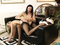 Mature lesbian toys pussy tube porn video