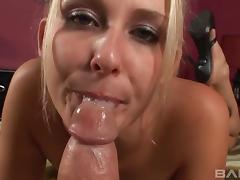 Cum-thirsty bombshell provides a jaw dropping blowjob in this hot POV scene tube porn video
