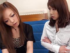 Elegant college professor is seduced by a sexy Japanese lesbian tube porn video