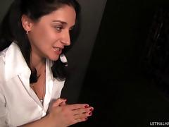 Big cock through a gloryhole is what the stockings girl craves tube porn video