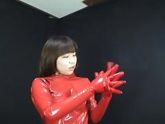 Japanese Latex Catsuit 55 tube porn video