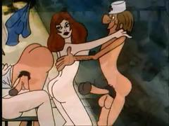 Cartoon classic of some perverted acts of athletic prowess tube porn video