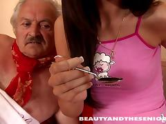 She made an old man to find real pleasure tube porn video