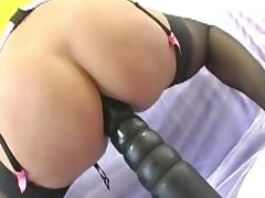 Huge Insertions - Horny MILF Stuffs Her Asshole tube porn video