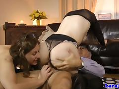 Mature cumswapping threesome with brit milf tube porn video