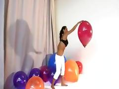 Charley Chase pops balloons and more tube porn video