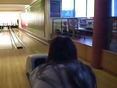 Nessa Devil in amateur girl gives ultimate blowjob in a bowling alley tube porn video