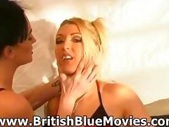 Donna Marie and Tequila Woods - British Lesbians in a Bar tube porn video