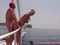 Velvet Swingers Club boat orgy with couples swapping tube porn video