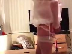 Crossdress Sissy Riding tube porn video