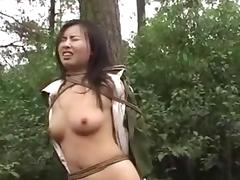 Chinese army girl tied to tree 2 tube porn video