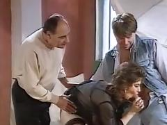 French Cradling Threesome tube porn video