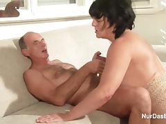 German Granny and Grandpa in Real Porn Casting for Money tube porn video