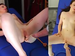 Strawberry's First Enema tube porn video