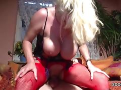 German Monster Natural Tits MILF Seduce To Fuck in Lingerie tube porn video