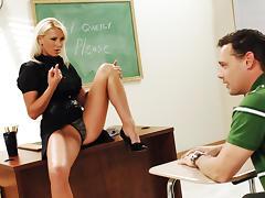 Emilianna & Brad Hardy in My First Sex Teacher tube porn video