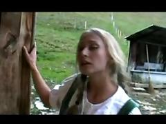 Two beautiful German girls Fucking in a barn tube porn video
