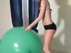 Jill: Big Green Balloon tube porn video