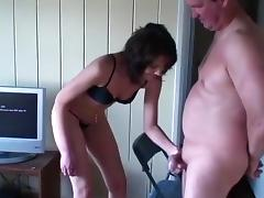 Overbearing wife cock crushing and ballbusting (With behind the scenes) tube porn video