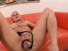 Pumped pussy and ass fuck tube porn video