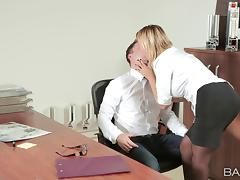 Office affair with a busty temptress is a wild fuck fest tube porn video