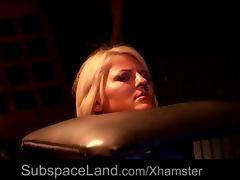Romanian blonde bdsm used in a dark basement tube porn video