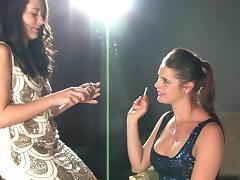 Karina and Cody smoking lesbian seduction tube porn video