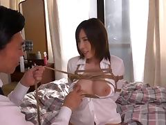Older men fuck this kinky Japanese girl that loves bondage tube porn video