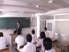 Fucking in a classroom, in a hospital and in an office tube porn video