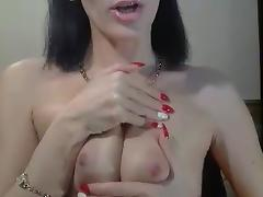 Russian mommy talks to a boy on webcam tube porn video