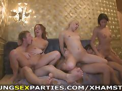 Young Sex Parties - Winter break sex party in a dormitory tube porn video