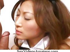 原千尋 Chihiro Hara Bunny Costume Threesome As tube porn video