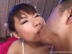 Fat cock gags the throat of a curvaceous Japanese girl tube porn video