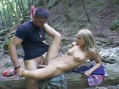 sophie is getting humped on a log @ sophie moone collection tube porn video