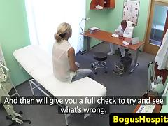Busty euro fingered and fucked by her doctor tube porn video