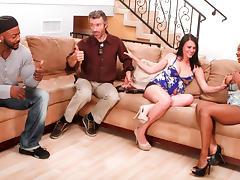 Ashli Ames,Persia Black,Steve French,Nat Turnher in Interracial Swingers #04, Scene #03 tube porn video