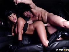 hungry for cock bitch gets fucked in car tube porn video