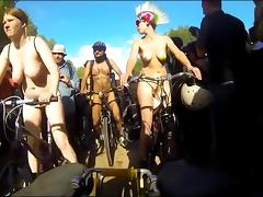 Nudists on public bikes tube porn video