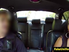 Young ebony blowing fake cops cock tube porn video
