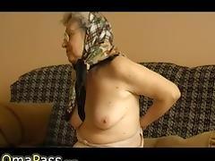Very old BBW Granny masturbate herself tube porn video