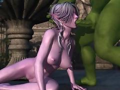 3D anime sucking monster cock tube porn video