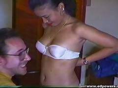 Nerdy guy takes a cute Asian to bed and bangs her slutty hole tube porn video