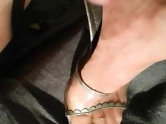 cum on nylons feet and high heels tube porn video