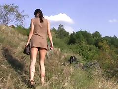 flexible brunette Alexa - Nature tube porn video