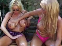 Lesbian Oil Fuck With A Strap On tube porn video
