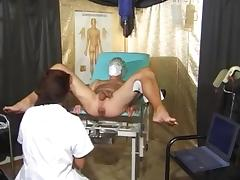 What is the Name of this Gyno Exam Pornstar ? tube porn video