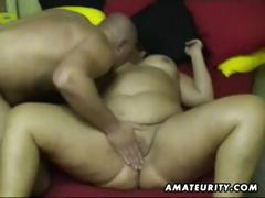 Chubby amateur wife sucks and fucks at home tube porn video