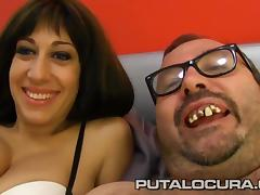 PUTA LOCURA Stunning French babe fucked by a fat guy tube porn video