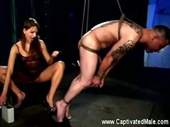 Dominatrix loves flogging her slaves tube porn video
